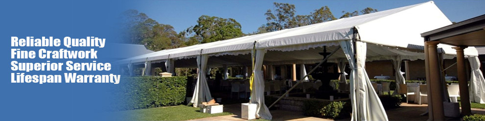 Tenda all'aperto di evento
