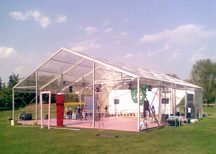 20x30m Steel Structure Material Clear Roof Tent Heavy Duty Sun Resistant