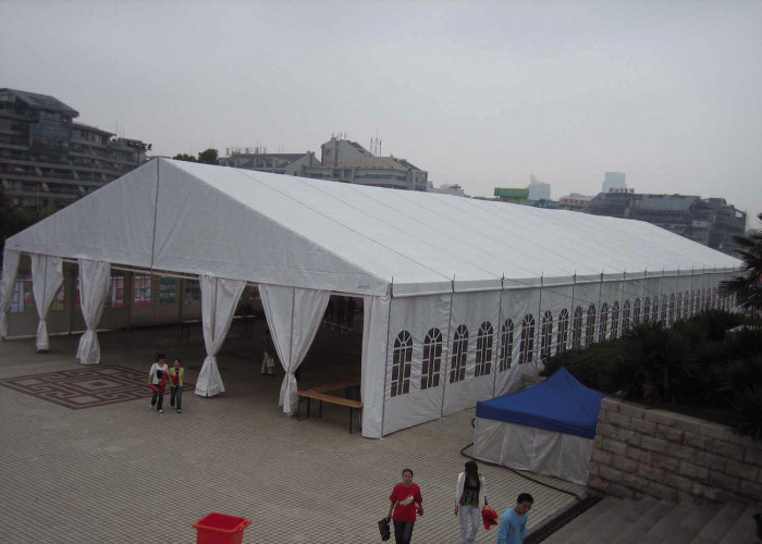 Large Trade Show Durable Aluminum Frame Tent Waterproof White Pvc Fabric Cover